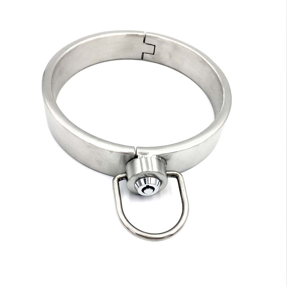 SM stainless steel collar new press lock male and female adult toys