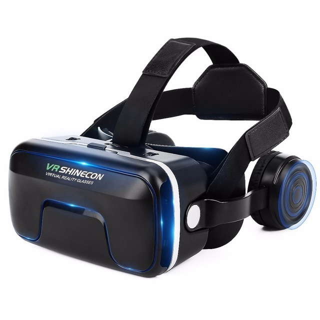 Shinecon Upgraded Z4 VR Large Viewing Immersive Experience Vr box 3D Virtual Reality Glasses with Stereo Headphone with gampad