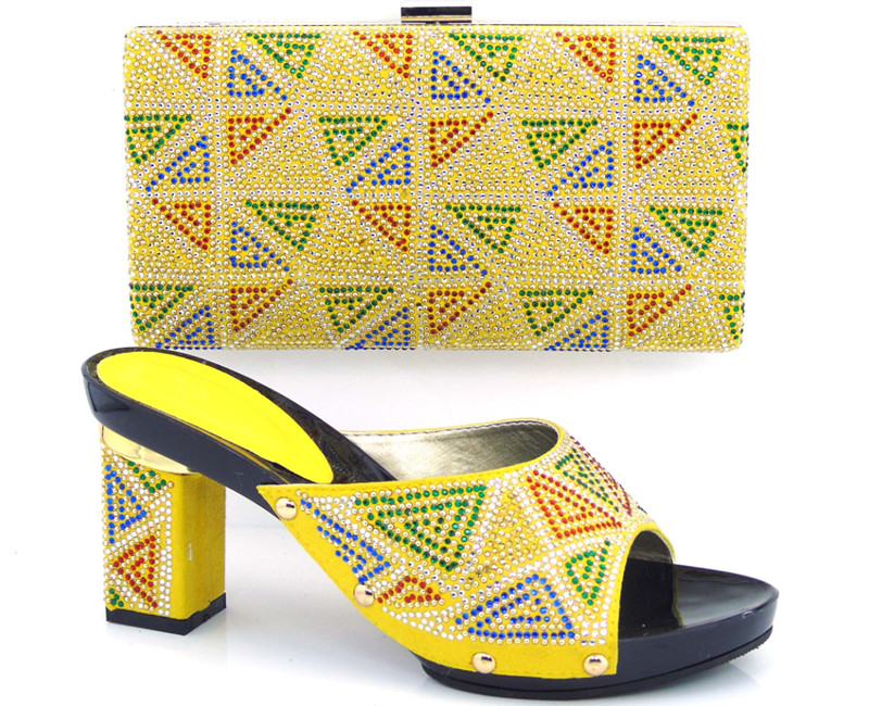 ФОТО 2017 High Quality African Designer Shoe And Bag Set To Match yellow Italian Shoes With Matching Bags Set Size