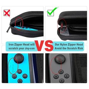 Image 4 - Étui de transport de voyage Durable Compatible pour NS Nintendo Switch accessoires sac de protection Portable à coque dure pour Console de commutation