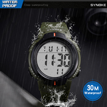 SYNOKE Luxury Brand Mens Sports Watches Dive LED Digital Mil