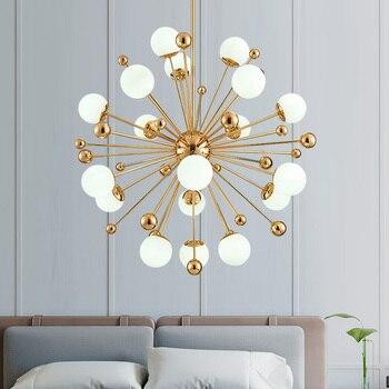Nordic LED chandelier dandelion American magic bean lights living room dining room bedroom lighting  dandelion Art decoration Chandeliers