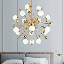 Nordic LED chandelier dandelion American magic bean lights living room dining room bedroom lighting dandelion Art decoration(China)