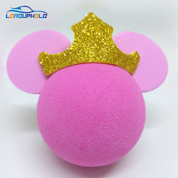 5 أنواع من أكسسوارات السيارات ذات التصميم الوردي الأميرة اللطيفة دمية صغيرة للزينة على شكل كرة الهوائيات اكسسوارات السيارات 2018 جديد
