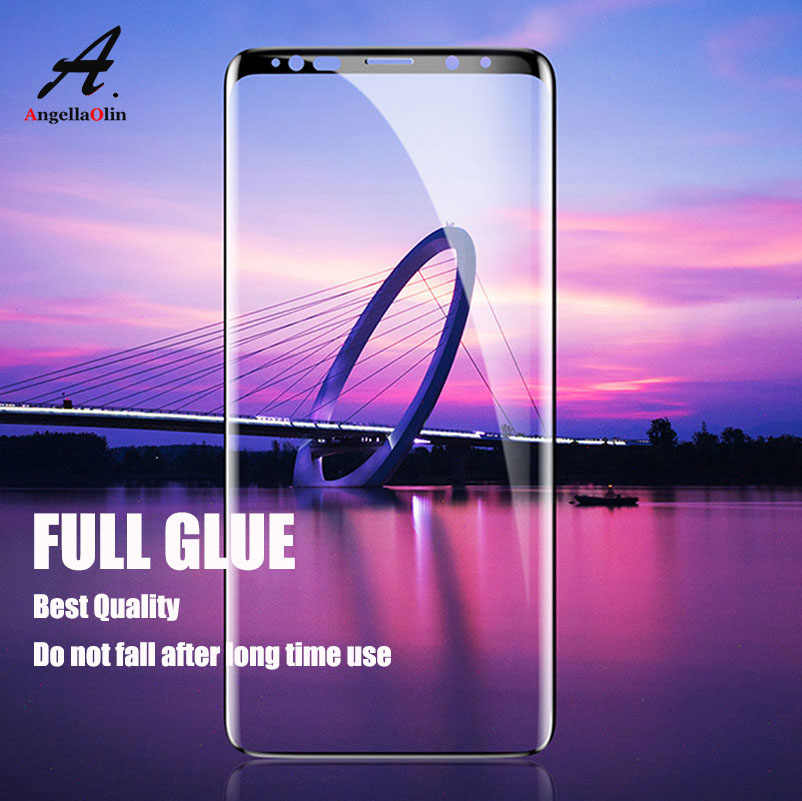 FULL GLUE Cover Tempered Glass For Samsung galaxy s10 E S9 S8 Plus S7 S6 Edge Note 9 8 Curved Screen Protector Film 6D 10D
