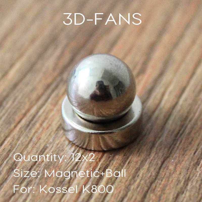 12kit = 24 Pcs 3D Printer RepRap Delta Kossel K800 Round Sekrup Bola + Magnetic Bulat Bracket/3D Printer repRap Delta Kossel K800