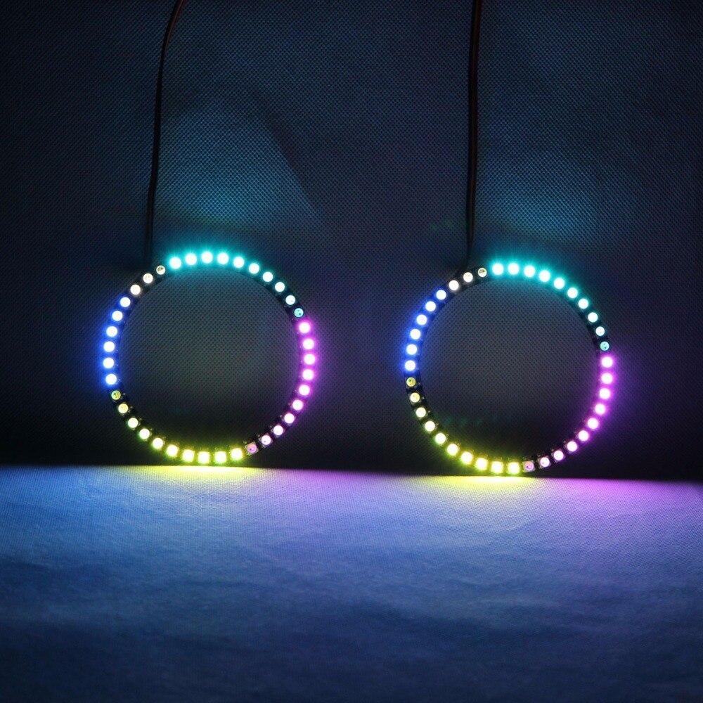 RGBW Angel Eyes lumières tournantes DRL LED lumière de roulement multicolore contrôle sans fil RF pour moto M1NSK Minsk R250