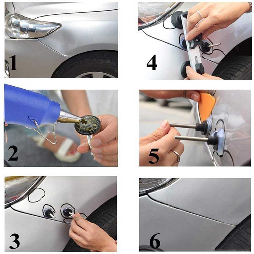 רכב דנט תיקון כלי סט 20W אקדח דבק פטישים רכב תיקון כלי הסרת שקע כרטיסיות הסרת ערכות עבור רכב רכב דנט ערכת כלים