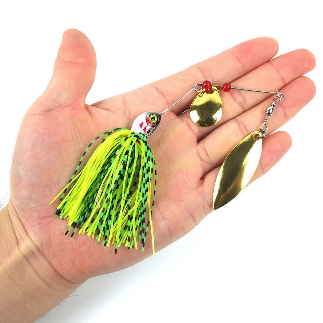 20,5g Spinner Angeln Köder Köder Löffel Bass Minnow Crank Popper Vib <font><b>Spinnerbait</b></font> Lockt Tackle Haken Angeln image