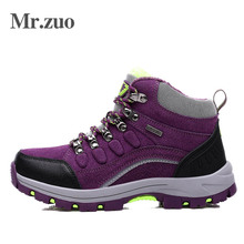 Brand Women Winter Sneakers with fur 2017 Hiking Climbing Shoes Warm Sport Shoes Outdoor Woman Trekking Shoes boots Large Sizes