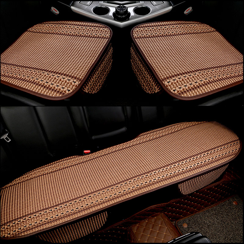 3Pcs/Set  Flax Car Seat Cover Pad for most cars Universal Front Back Auto Seat Covers Black Automobiles Seat Cushion hot sale car seat back covers protectors for children protect back of the auto seats covers for baby dogs drop shipping