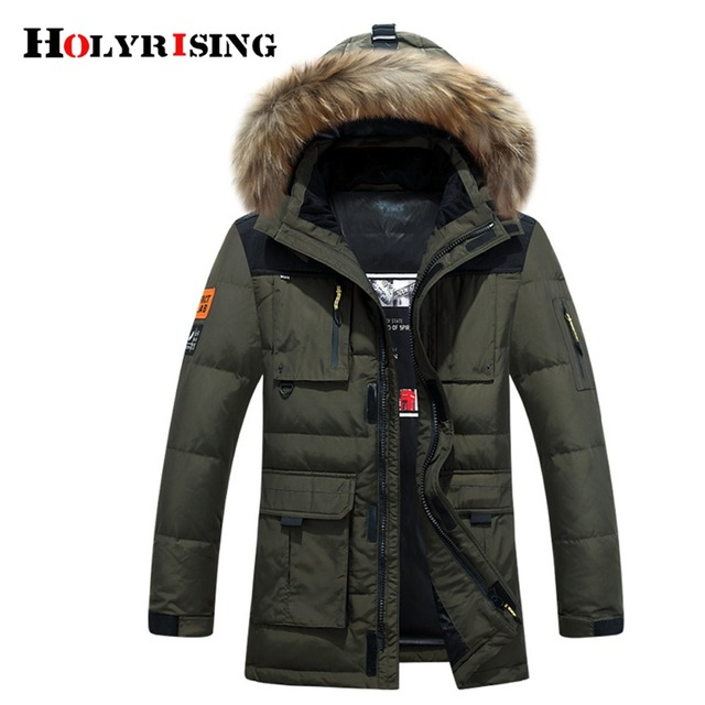 Holyrising Down Jackets Coat Men winter Plumas Hombre Thick Outwear Loose Chaquetas De Invierno Hooded Mens Clothing 18434-5