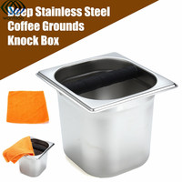 Deep Coffee Residue Knock Box Espresso Stainless Steel Grounds Slag Bucket Holder Coffee Make Tool Waste