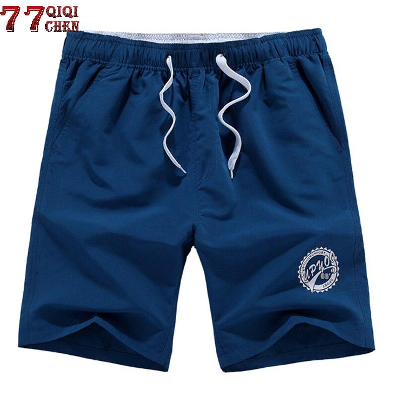Casual Men Beach Shorts Brand Quick Drying Short Pants Men Plus Size L-5XL Loose Elastic Fashion Beach Short Bermuda Masculino