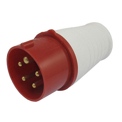 16A Red White Splash Proof IP44 3P+E+N IEC309-2 Industrial Plug