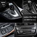 Carbon Fiber Car Interior Air Conditioning CD Panel Cover Trim Gearshift Panel Frames For BMW F20 1 Series 2012-2015 Car Styling