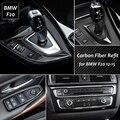 Fibra de carbono Interior Do Carro Ar Condicionado Painel CD Tampa Da Guarnição mudanças de câmbio Quadros Painel Para BMW Série 1 F20 2012-2015 Carro Styling