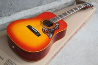 free shipping Custom New Hot sale Custom hummingbird cherry red Electric Acoustic Guitar With Fisherman Pickup 85
