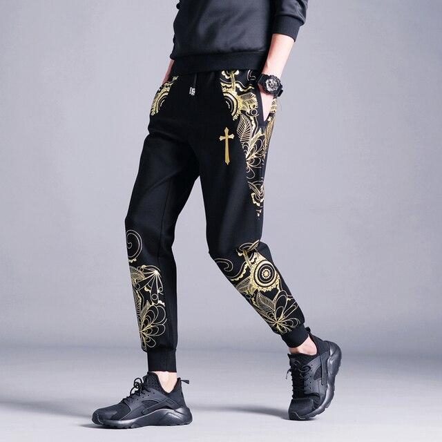 Spring and summer slacks male character printing feet pants haroun pants pants