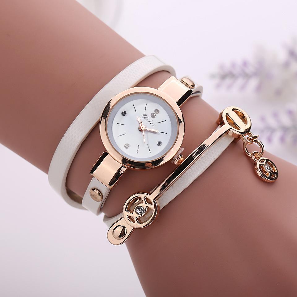 iMucci Women Metal Strap Watch Leather Quartz Wrist Watches Bracelet watch Elegent Gifts