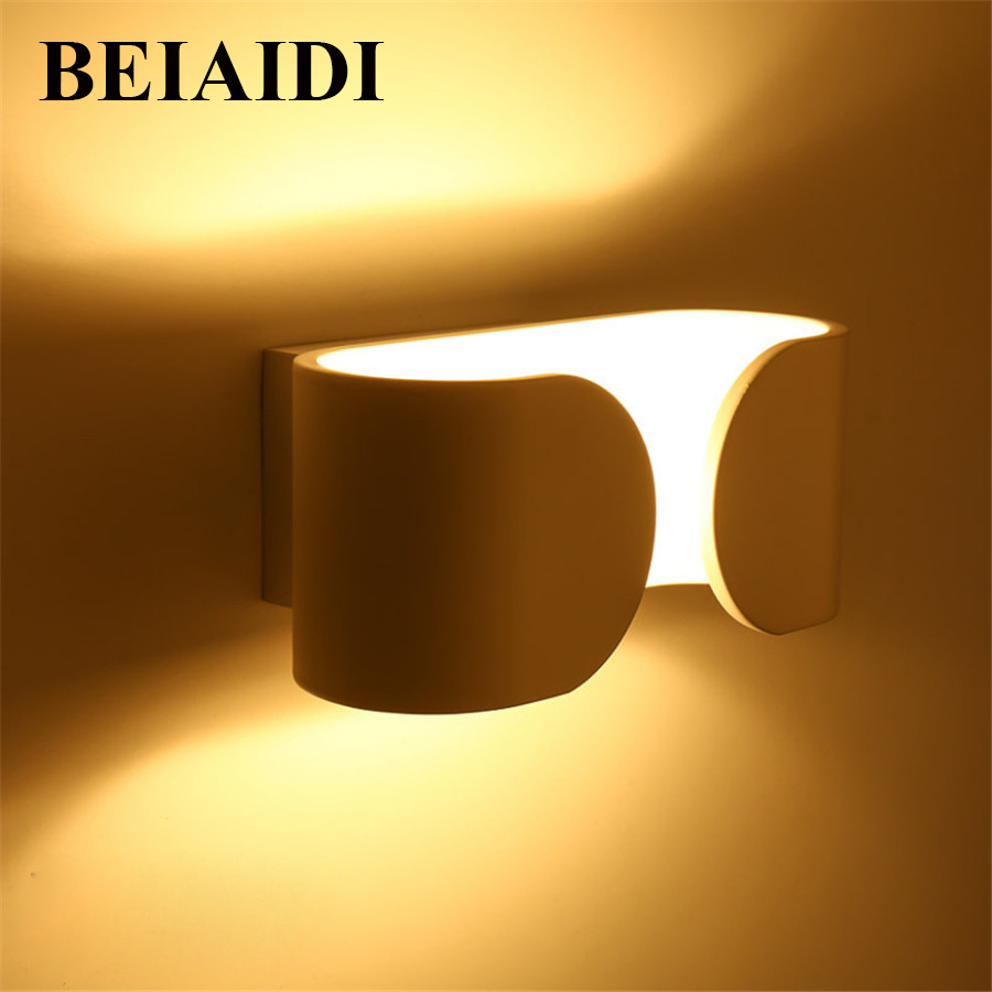 BEIAIDI Modern Simple 6W Creative LED Wall Lamp Bedroom Bedside Dining Restaurant Coffe shop Aisle Corridor Wall Sconce Lights nordic modern simple led decoration wood wall lamp creative circular restaurant bedroom bedside aisle balcony wall light