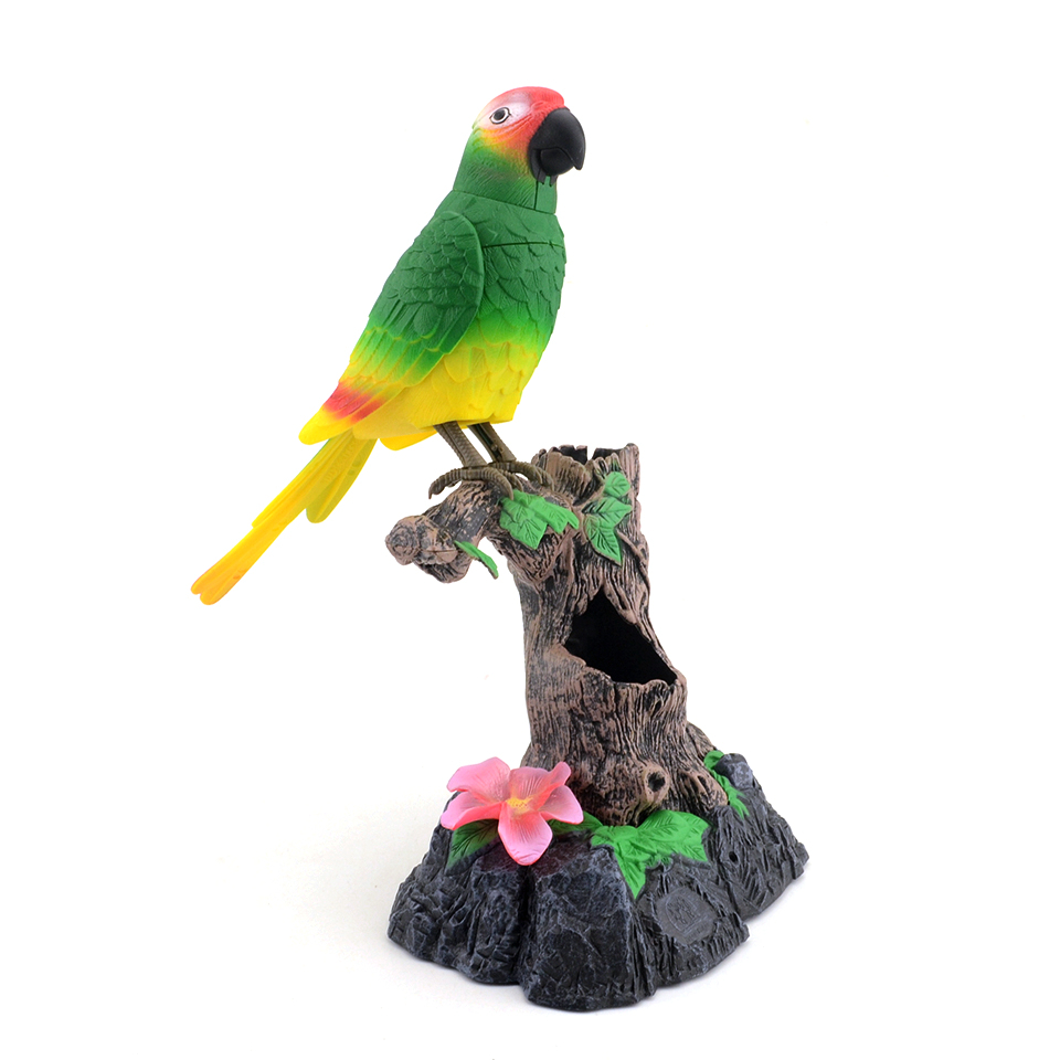 Cute Robot Electronic Talking Bird Pets Toys Moving And Sound Record Speaking Parrot Talking Toys For Children Gift