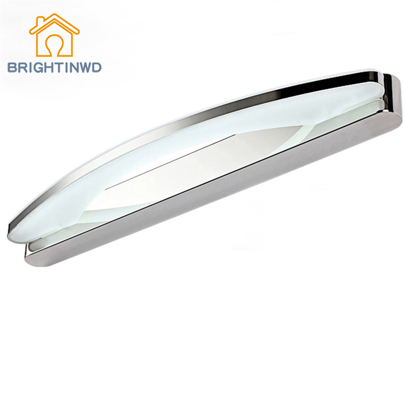 ФОТО AC85-265V 8w 39cm Wall Light Led Mirror Crystal  Lamp Bedroom/bathroom &White Led Wall Lighting for Reading from factory