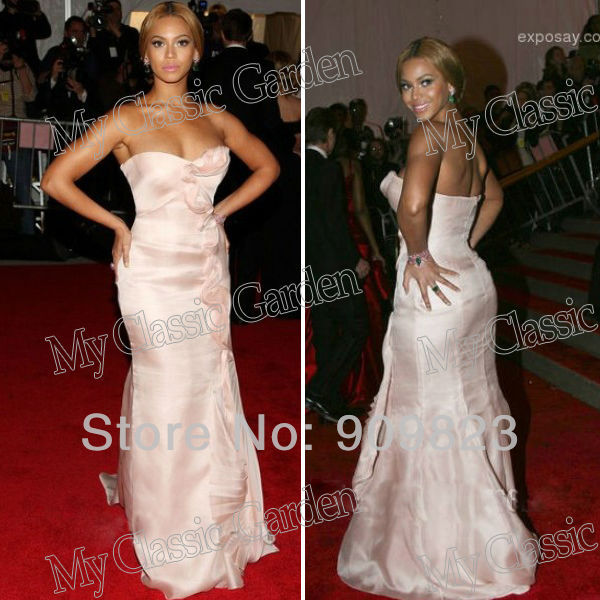 b21d3115593e Beyonce Knowles Sweetheart Ruffles Satin Mermaid Designer Evening Celebrity  Dresses Gowns 2013