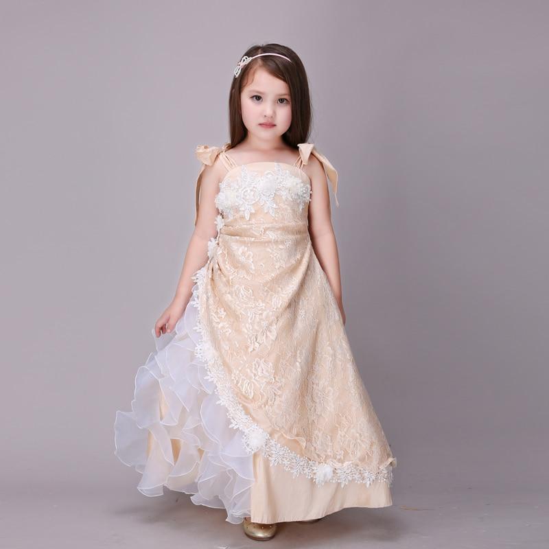 Flower Girl Bridesmaid Dresses: 2016 Gown Bridesmaid Dresses Kids Blush Pink Flower Girls
