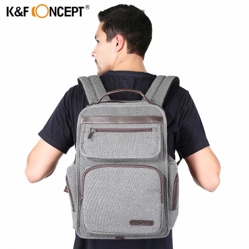 K&F CONCEPT Professional Waterproof Camera Backpack Large Capacity Casual Travel Bag Laptop/Video/Photo/Lens Bags for DSLR Canon dslr camera backpack padding lens divider insert bag with 15 laptop pack travel bag for canon 5d 7d 600d nikon d7200 sony a6000