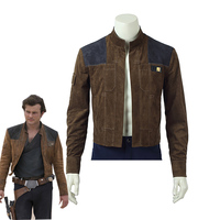 2018 Movie Solo A Star Wars Story Han Solo Cosplay Costume Men's Suede Jacket Halloween Carnival Uniforms Cool Coat Custom Made