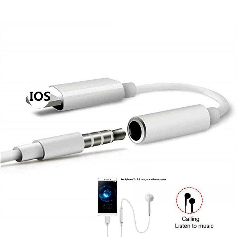 Para o iphone a 3.5mm fone de ouvido jack adaptador aux iluminação plug áudio música jogar para o iphone x 7 8 plus xr xs max fone de ouvido adaptador