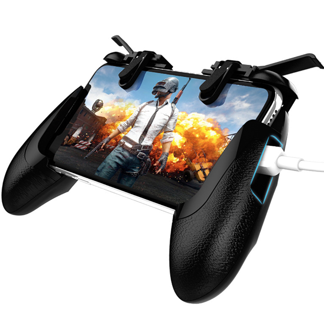Image 4 - New Mobile Phone forPubg Game Handle Grip With L1R1 Shooter Controller Trigger Forpubg-in Gamepads from Consumer Electronics
