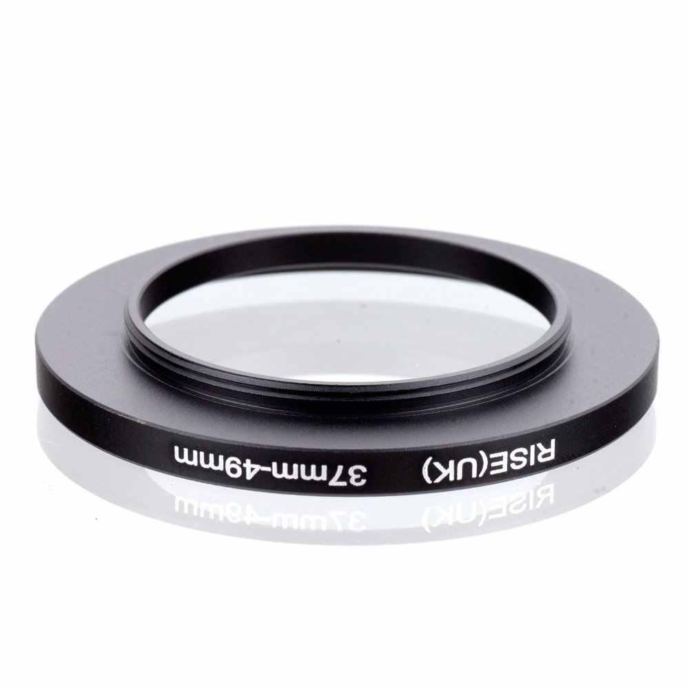 Original RISE (UK) 37 มม.-49 มม.37-49 มม.37 49 Step Up แหวนอะแดปเตอร์ตัวกรองสีดำ