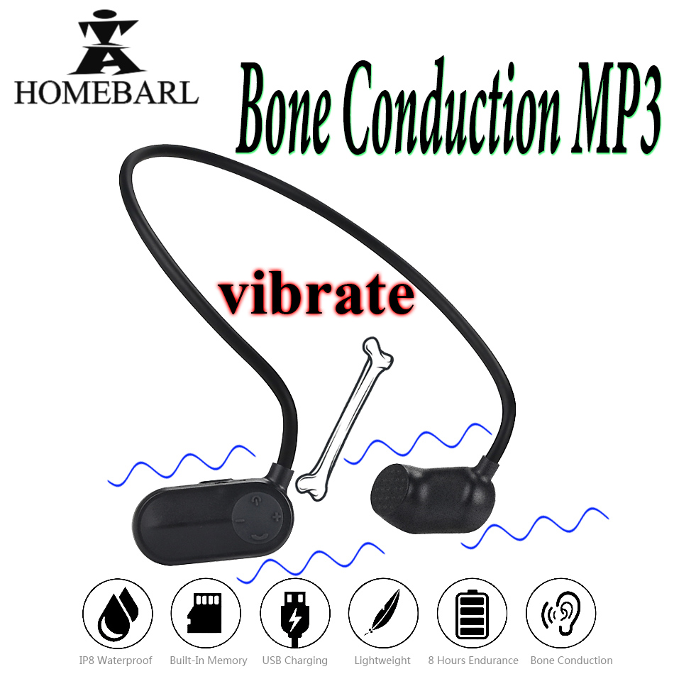 Bone Conduction mp3 Player V31 Newest Health 8GB 16GB IP8 Waterproof MP3 Players Swimming Diving Underwater Sport Swim Earphone(China)