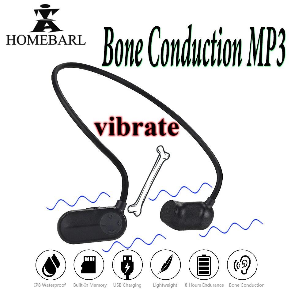 Lecteur mp3 à Conduction osseuse V31 nouvelle santé 8 GB 16 GB IP8 étanche lecteurs MP3 natation plongée sous-marine Sport nager écouteur