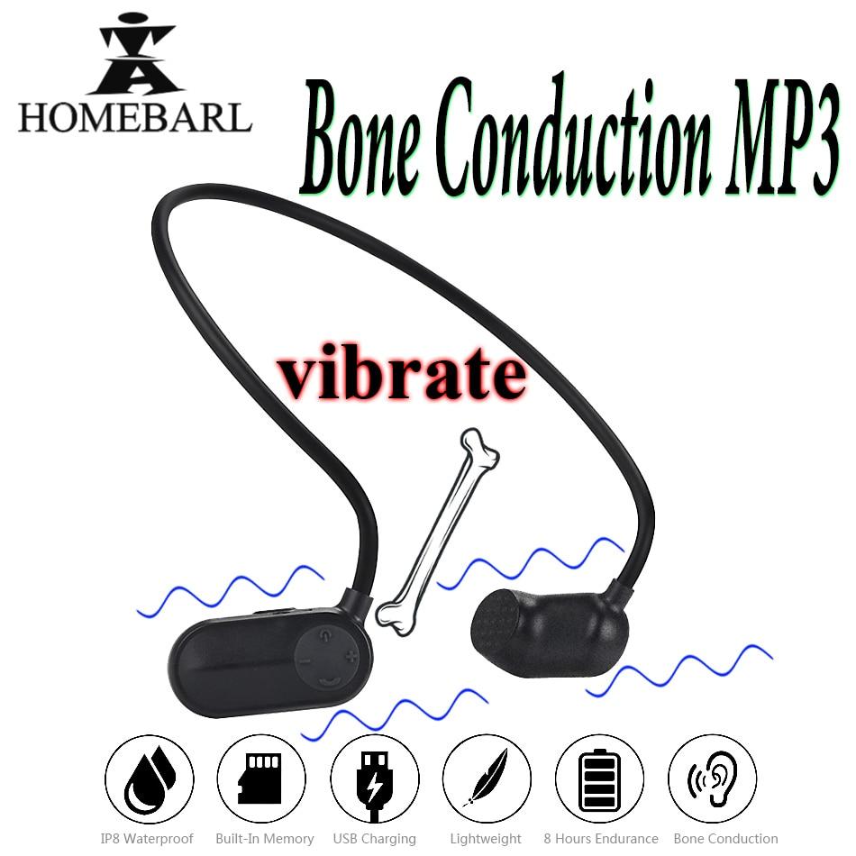Lecteur mp3 à Conduction osseuse V31 nouvelle santé 8GB 16GB IP8 étanche lecteurs MP3 natation plongée sous-marine Sport nager écouteur