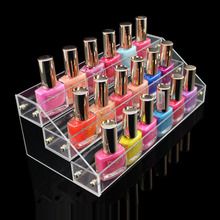 Hot Sale maquillaje cosmético 3 Tier acrílico organizador Mac lápiz labial Holder Jewelry Display Stand de Rack esmalte envío gratis