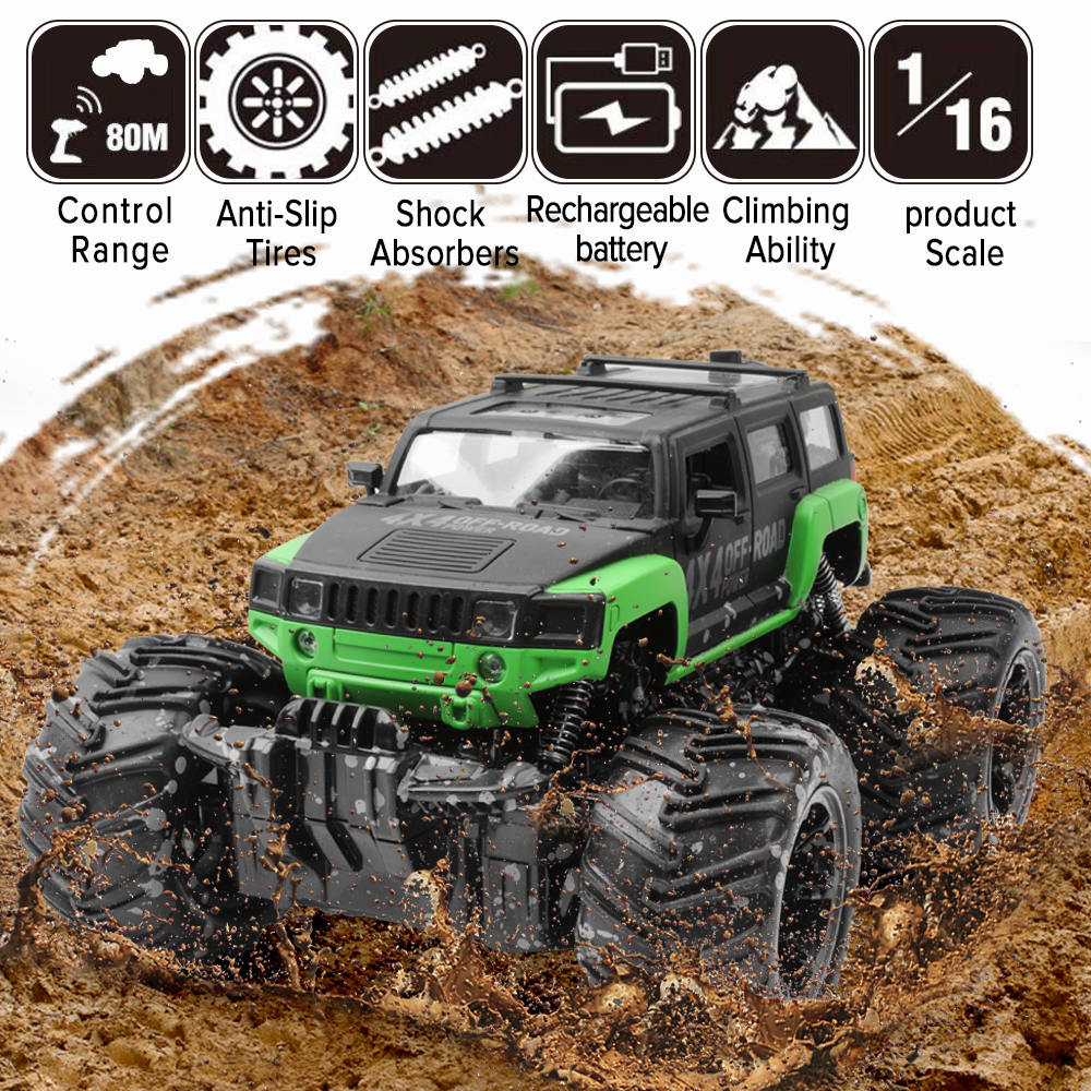 RC Car 2.4G Scale Rock Crawler Remote Control Car Supersonic Monster Truck Off Road Vehicle Buggy xmas gifts for kids-in RC Cars from Toys & Hobbies