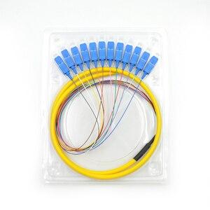 Image 4 - 12 нитей 9/125 волоконно оптический свиной хвост 1,5 м SC/UPC одиночный режим