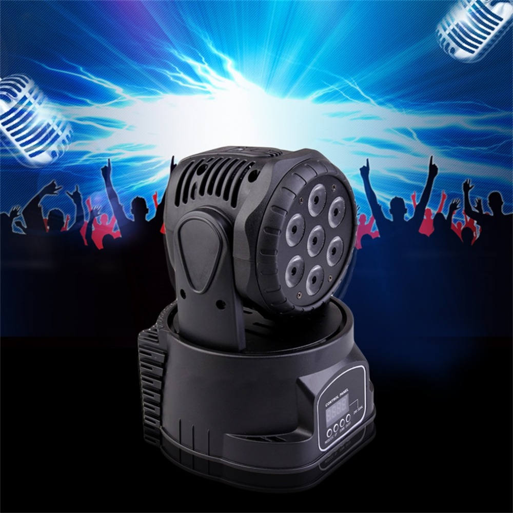 DMX-512 Mini Moving Head Light RGBW LED Stage PAR Light Lighting Strobe Professional 9/14 Channels Party Disco Show 4x led par light 7x10w 4in1 rgbw led slim par can strobe laser dmx dj disco professional stage lighting sound party equipment