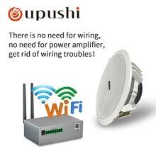 Беспроводные потолочные колонки wifi 6,5 дюйма динамики с Bluetooth oupushi wifi домашняя музыкальная система лучшие в стенах динамики для объемного звучания