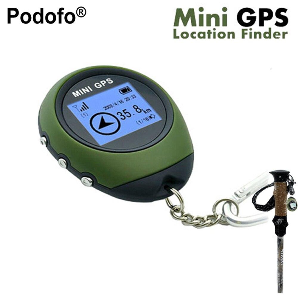 Podofo Nouveau Mini Handheld Navigation Récepteur GPS Location Finder USB Rechargeable avec Boussole Électronique pour L'extérieur Voyage