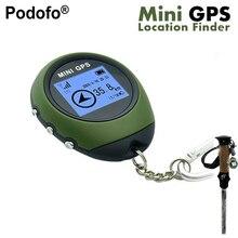 Podofo Nuevo Mini GPS Receptor de Navegación Portátil Localizador Recargable USB con Brújula Electrónica para el Recorrido Al Aire Libre