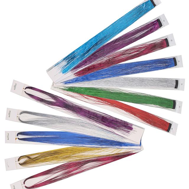 Glitter and Sparkling/False Rainbow Colour Synthetic Hair Clip