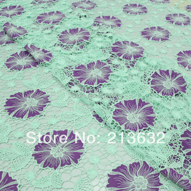 D po67 Polyester ligne tournesol soluble dans l'eau brodé vêtements tissu tissu évider tissu spot électronique meilleur nouveau