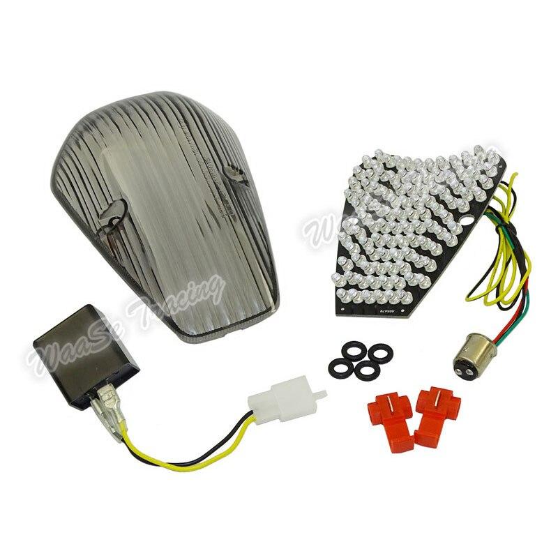 waase For Honda VTX1300 VTX1800 CUSTOM 2002 E Mark Rear Tail Light Brake Turn Signals Integrated