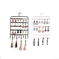Gift Box Porte Bijoux 2019 New Frame Display Card, Wrought Iron Wall Hanging Rack Necklaces Earrings Stud Bracelets Jewelry