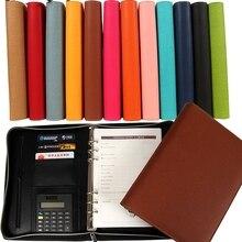 manager zipper PU leather notebook and journals filofax agenda calculator spiral holder portfolio  organizer planner A5