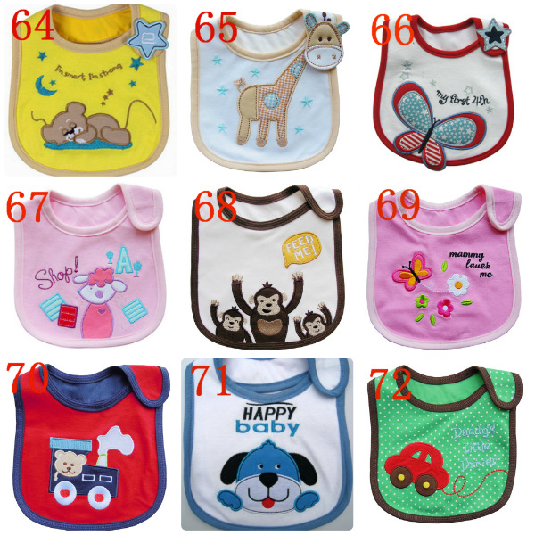 waterproof embroidery Child Infants toddler Cotton Bibs babies Wipes Wraps Burps Cloth Scarf Bandage neckerchief muffler shawl